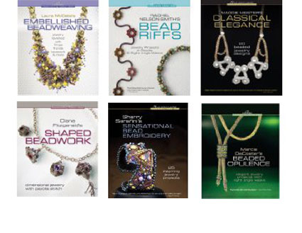 cover art from 6 Beadweaving Master series books