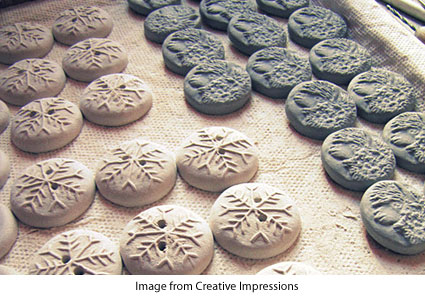 clay buttons from Creative Impressions in Clay