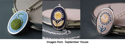 stitched pendants from September House
