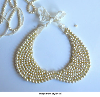 DIY pearl collar from StyleHive