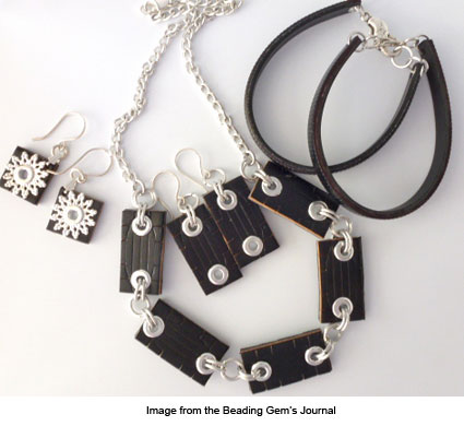 jewelry made from a recycled belt from The Beading Gem's Journal