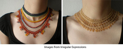 crochet and beaded necklaces from Irregular Expressions