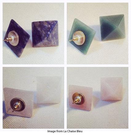 earrings from La Chaise Bleu