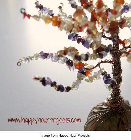 wire and bead family tree