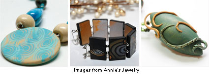 polymer clay jewelry from Annie's Jewelry