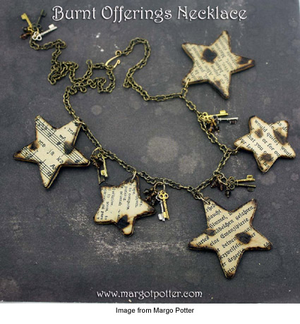 Burnt Offerings necklace from Margo Potter