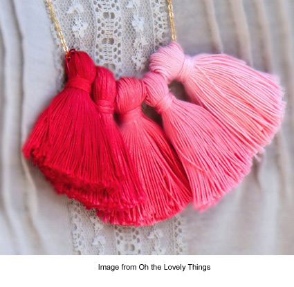 DIY Ombre Tassel Necklace from Oh the Lovely Things
