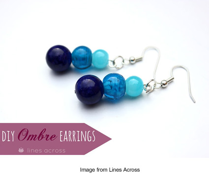 ombre earrings tutorial from Rachel at Lines Across