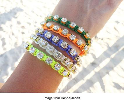 sparkling friendship bracelets from HandeMadeIt