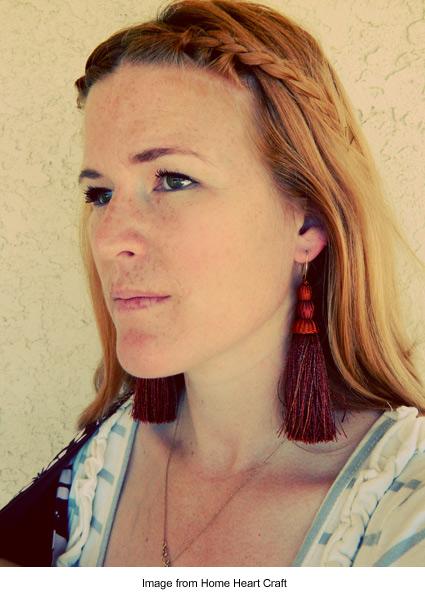 tassel earrings from Home Heart Craft