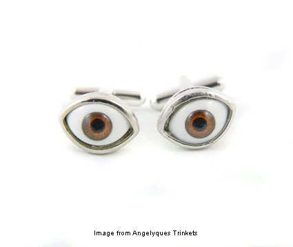 brown eyed cuff links from Angelyques Trinkets