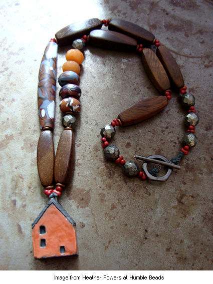 house necklace from Heather Powers at Humble Beads