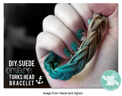 DIY suede ombre bracelet from Hazel and Agnes