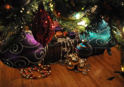 """treasure-box inspired tree """"skirt"""""""