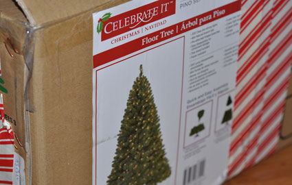 6 foot pre-lit tree from Celebrate It Brands courtesy of Michaels Stores