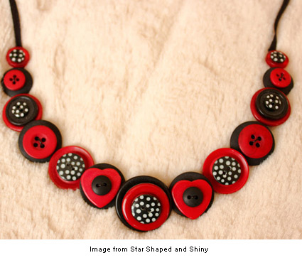 button necklace from Star Shaped and Shiny