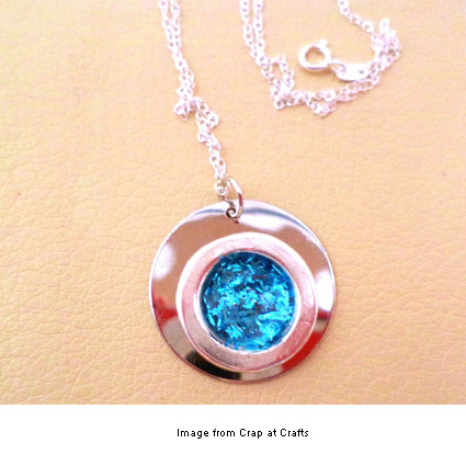 DIY glitter pendant from Crap at Crafts