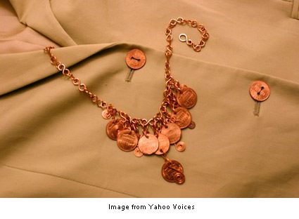 necklace made of pennies from Carol Rucker