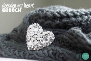 Decoden Heart Brooch