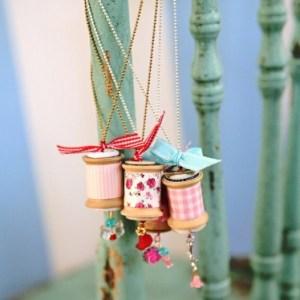 Vintage Spool Necklace