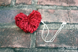 Pom Pom Heart Necklace