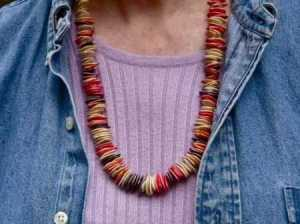 Indian Corn and Pumpkin Seed Necklace