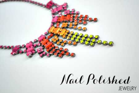 DIY – Neon Nail Polish Necklace