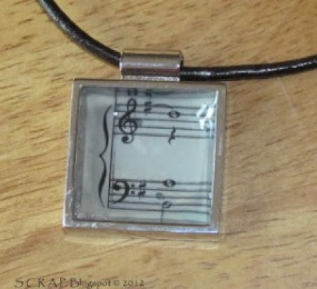 Sheet Music Pendant