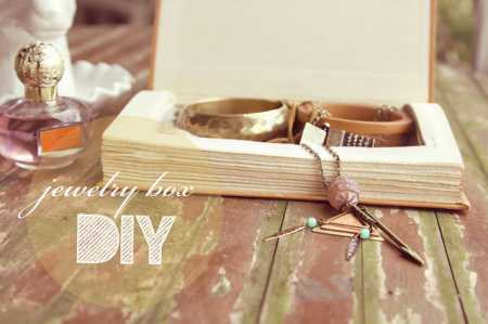 book jewelry box DIY 1