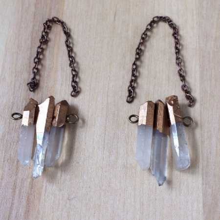 DIY – Quartz Crystal Earrings