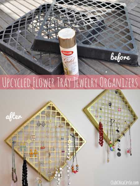 Jewelry-organizer-DIY-upcycled-from-flower-baskets (1)