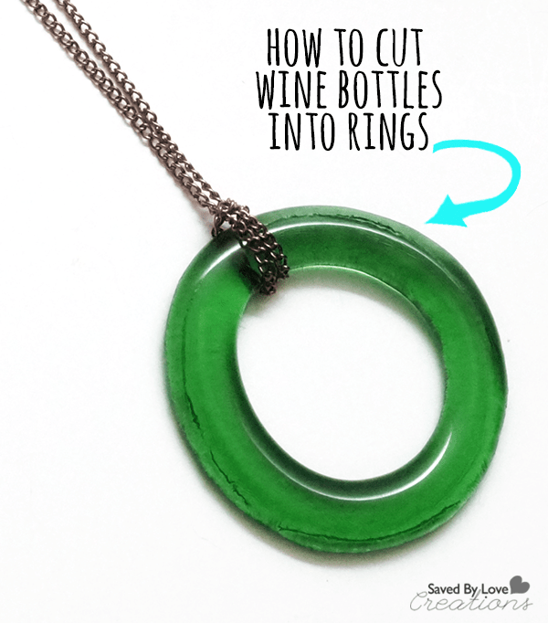 Recycled wine bottle pendants for How to make glasses made from wine bottles