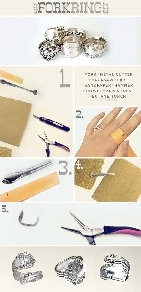 DIY Fork Ring