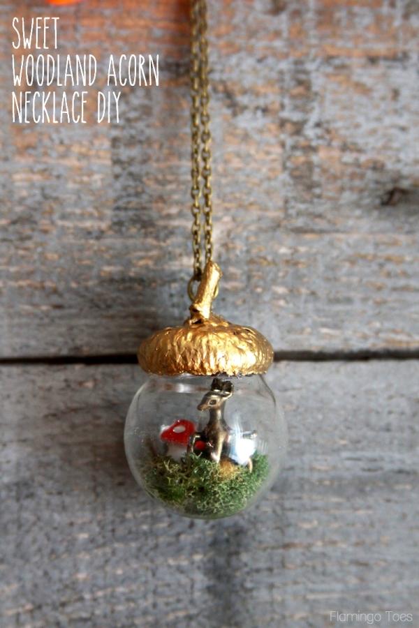 Diy woodland acorn necklace for Acorn necklace craft