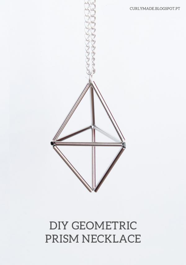 DIY Geometric Prism Necklace