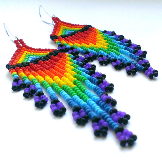 rainbow-earrings