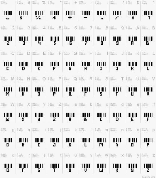 barcode letters2-500