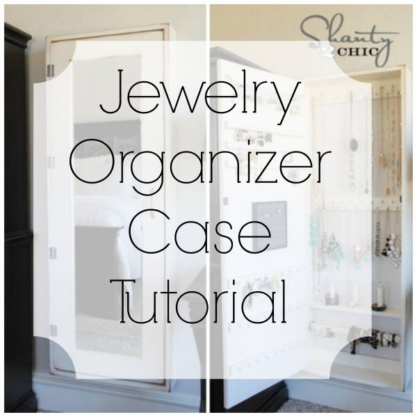 Tutorial for making your own jewelry organizer case for Make your own jewelry rack