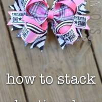 "The Right Way to Stack a ""Boutique"" Bow"