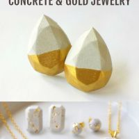 Concrete and Gold Jewlery