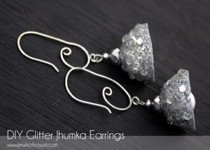 Glittered Jhumka Earrings