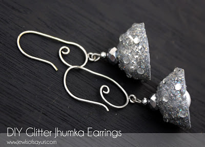 Glittered Jhumka Earrings