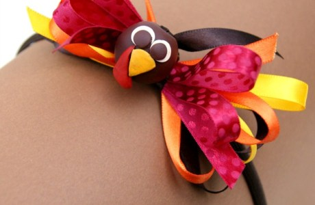 DIY Turkey Bow Headband