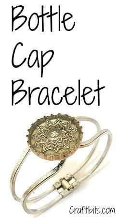DIY Bottle Cap Bracelet