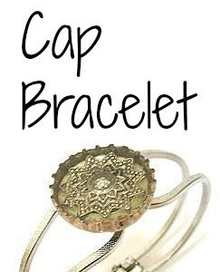 DIY Bottle Cap Bracelet