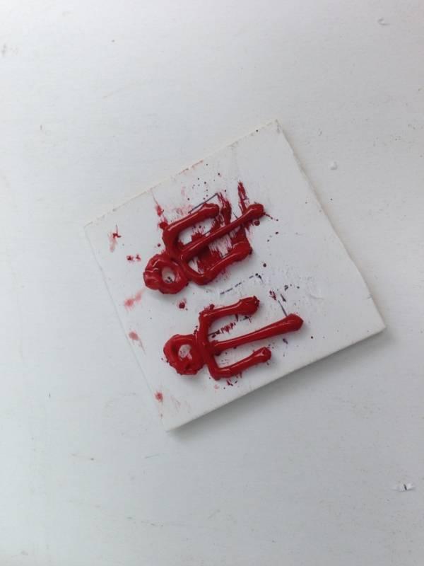 Diy Halloween Blood Drip Earrings