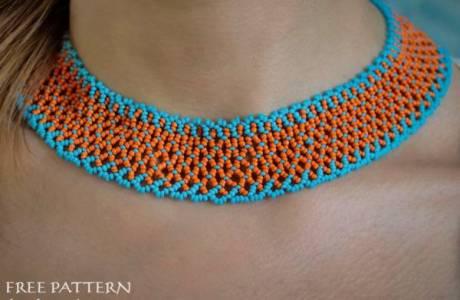 Beaded Summer Necklace Collar