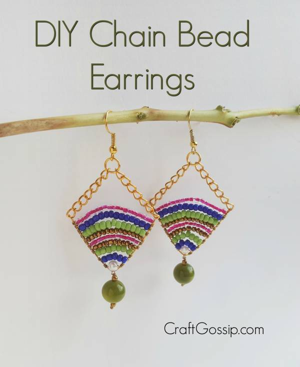 Diy Chain Bead Earring Tutorial