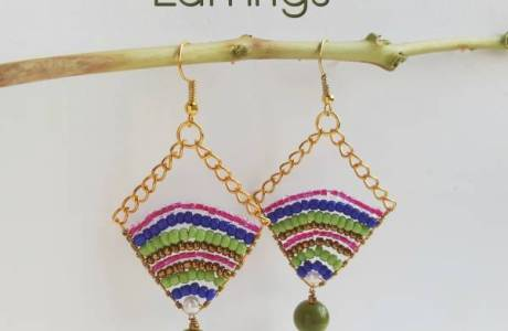 chain bead earring tutorial
