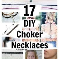 17 DIY 80's Choker Necklaces